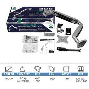 ONKRON Soporte Monitor 17-32 1 brazo