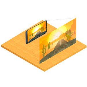 Dibujo de una lupa de pantalla para móvil o tablet