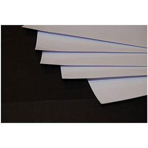 Papel adhesivo de vinilo A3 Madaboutink Inyección tinta 10 hojas blanco brillo