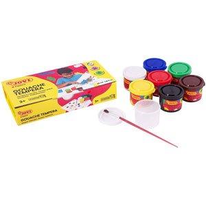 Témpera Jovi 7 colores 35 Ml con Pinceles Artisticos